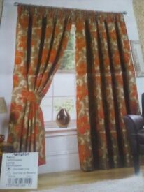 Curtains, never used.