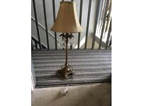Gold lamp with shade