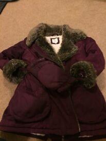 Purple girls jacket 3-4 years