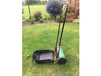 Lawn Mower Manual Hand push grass collection