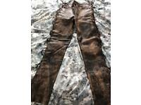 Ladies Leather motor bike pants