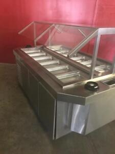 Restaurant Double sided Buffet salad table Retails $25,000 ++ now only $4995 Save $$