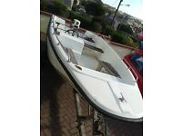 DELL QUAY DORY 15 . JOHNSON 25HP ELECTRIC START OUTBOARD