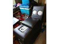 Sofa charging station end speaker system