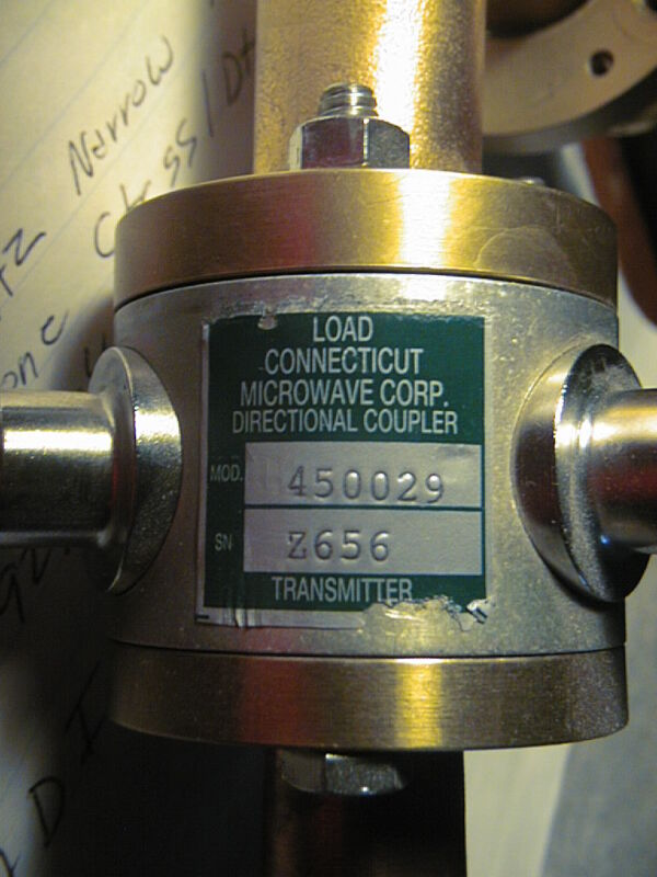 MICROWAVE DIRECTIONAL COUPLER MODEL 450029 W/ ANDREW TYPE 1060A RIGHT ANGLE