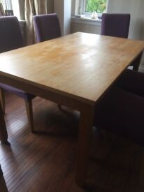Next home solid oak dining table