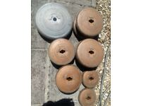 Gym equipment weights