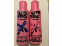 Semi Permanent Crazy Colour Pink and Blue Hair Dye