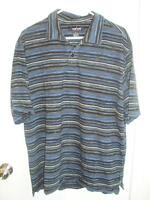 Men's Navy/Black Golf Shirt, Weir Golf, size L