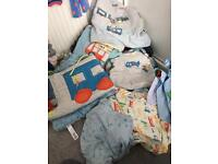 Boys cotbed bedding bundle