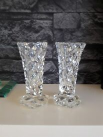 Pair of small cut glass vases