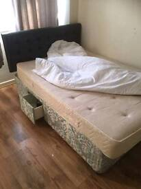 Double divan storage bed