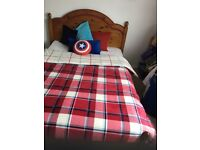 Double pine bed and matress £30 no offers
