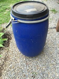 Plastic drums 120 ltr x 4 with seals lids and lock x 4 Gunalda Gympie Area Preview