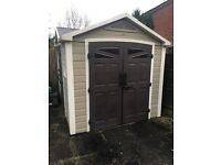Keter 8x9 plastic resin outbuilding shed