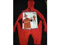 BRAND NEW IN PACKET KETCHUP FANCYDRESS WITH RED SECOND SKIN SUIT