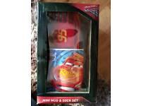 Disney Cars Mug & Socks Gift Set BNIB