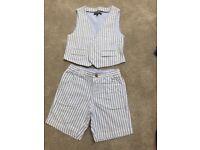Boys Autograph waistcoat and shorts set