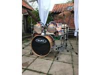 "Mapex Pro M 22"" fusion (caramel fade) drum kit"