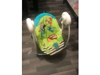 Baby swing for ching 1 and under good condition bought for £65 on for £20