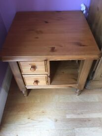 Ducal antique pine phone table.