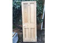 Victorian pitch pine door