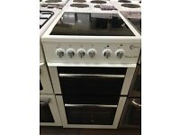 50CM WHITE FLAVEL ELECTRIC COOKER