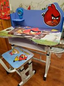 Kids desk with hair