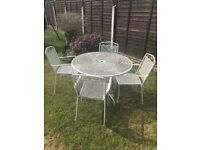 Metal/iron garden table and chairs