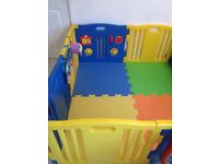 Lovely playpen in excellent condition 8sides and floor mats