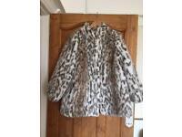Faux Fur Jacket Festival Size 8 10 12
