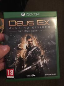Xbox one Deus Ex mankind divided day one game