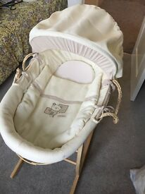 Baby Moses basket, chair, play mat, mobile buy as a bundle or separate just ask what you require.