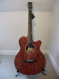 Tanglewood Evolution Exotic TSF CE X B Super Folk cutaway electro acoustic guitar.