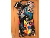 River Island Floral Patterned Shift Dress (Size 8)