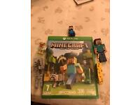 Minecraft Xbox one game and figures