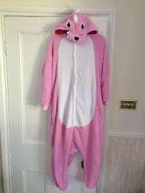 Pink dinosaur onesie. size medium