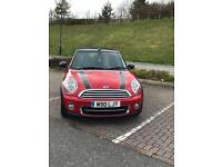 Mini convertible D 63 plate racing red, bonnet stripes full service history