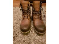 Mens Timberland rugged six inch plain toe WP boots size 11 RRP £170