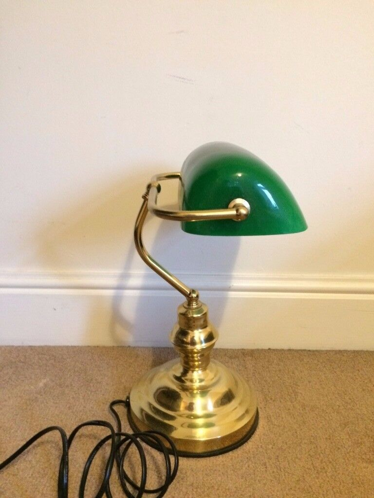 Bankers lamp touch lamp with green glass shade in islington bankers lamp touch lamp with green glass shade aloadofball Gallery