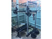 Bodycraft F430 Power Rack, Bench, - Cost over £1000 -Home Gym, Squat Cage - with Olympic Bar + 145kg