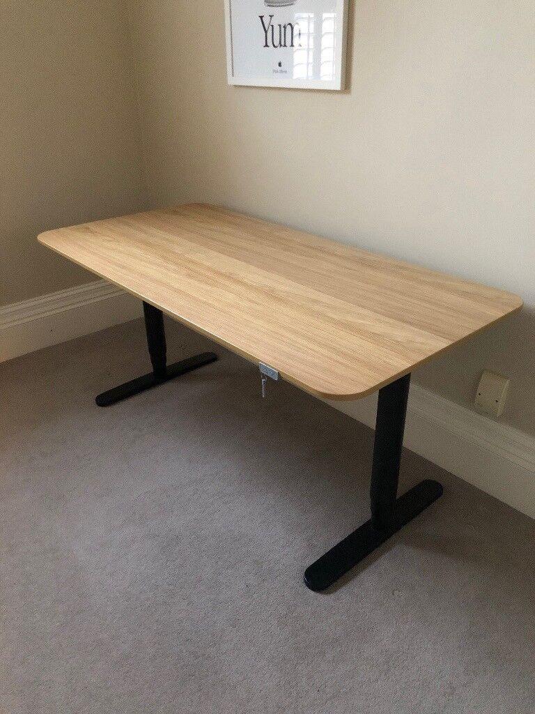 bekant wonderful veneer sit photo x of birch sided ikea black ideas desk stand design