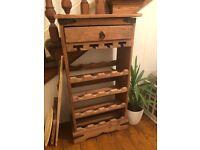 Beautiful rustic wooden wine rack