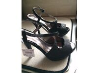 Black/Glitter style ladies shoes