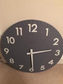 Large Thomas Kent Slate Grey Clock