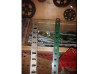 Mecano Items in Large Wooden Box - Loads of Original Pieces