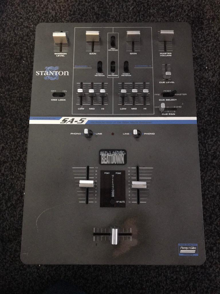 Stanton SA-5 Beatdown Series Scratch Mixer | in Tranent, East Lothian |  Gumtree