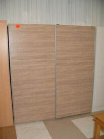 Hygena Bergen 2 Door Large Sliding Wardrobe - Oak