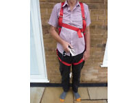 Spanset 1PL safety harness with lanyard