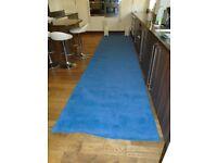Wedding runner - superior quality carpet in blue